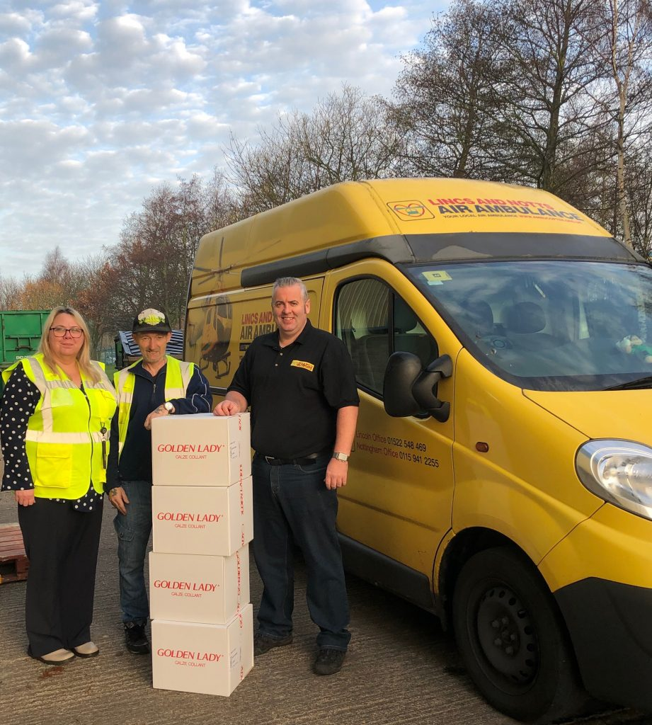 Lincs & Notts Air Ambulance receive generous donation of brand-new tights