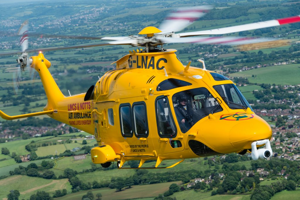 Lincs & Notts Air Ambulance dispatched to five critically ill patients in one day