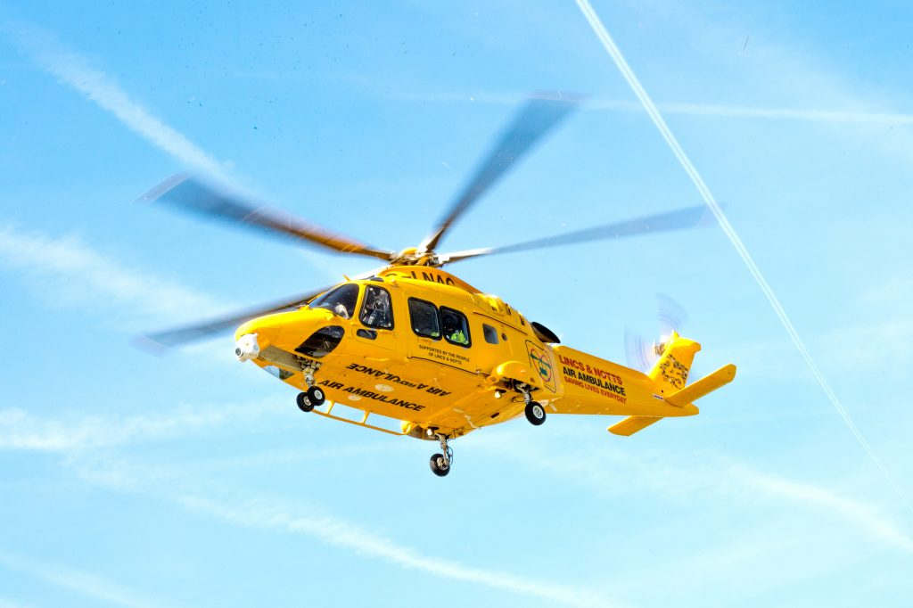 Lincs & Notts Air Ambulance flies its 20,000th mission