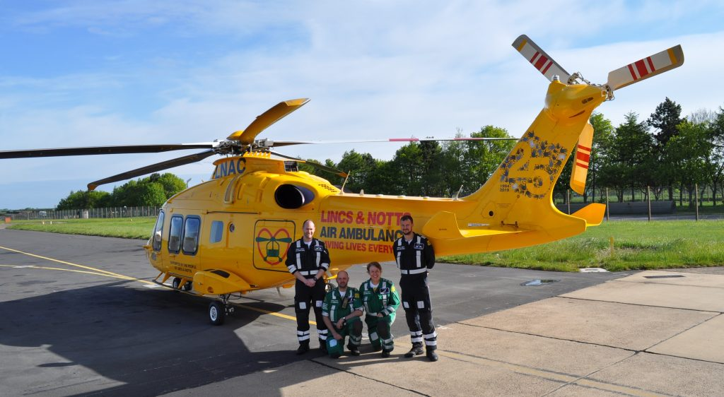 Unique helicopter tail unveiled to celebrate 25 years of life-saving service