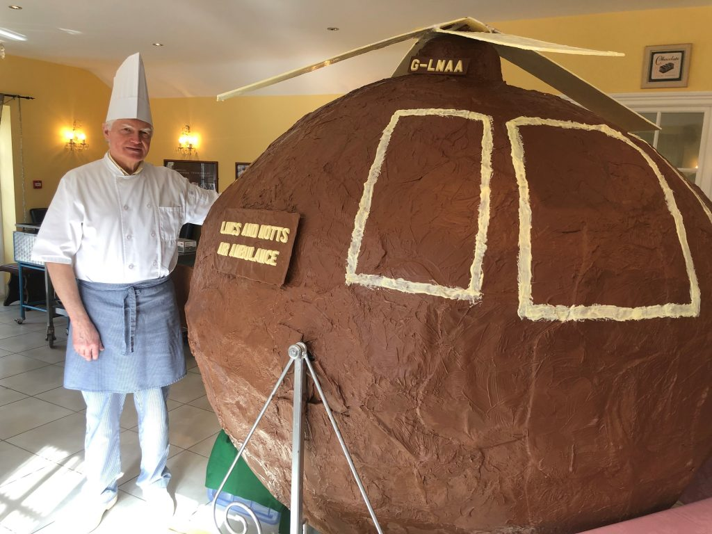 Nine-foot Chocolate helicopter will raise money for LNAA