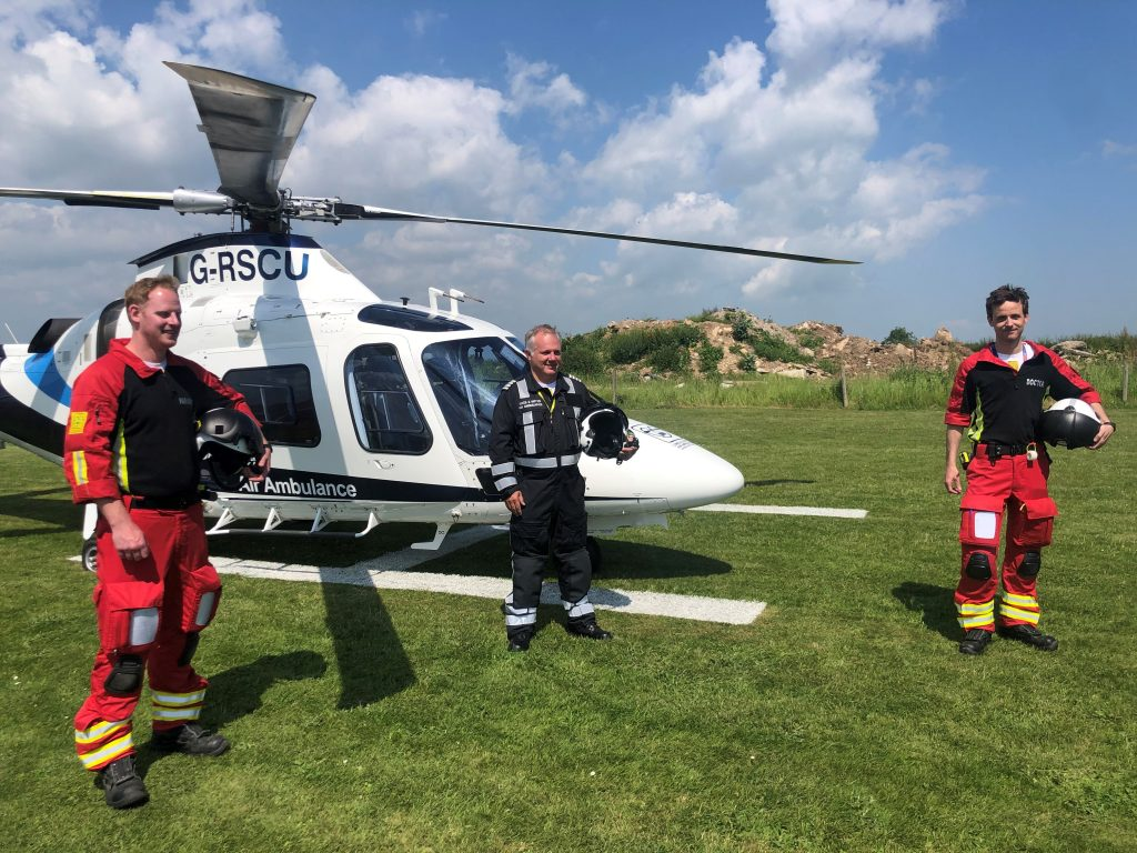 Second helicopter lands on Lincolnshire coast